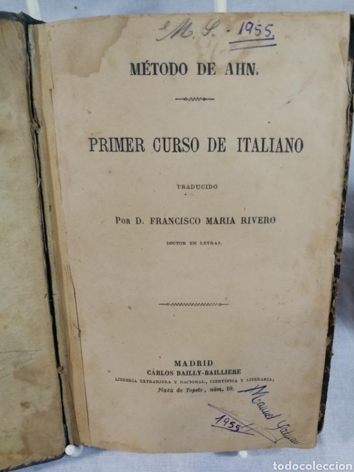 CURSO DE ITALIANO METODO AHN (Libros de Segunda Mano - Cursos de Idiomas)
