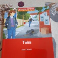 Libros de segunda mano: LIBRO.TWINS.HELBLING READERS.FICTION.CON CD INCLUIDO.ESO.. Lote 208444586