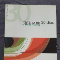 Libros de segunda mano: CURSO DE ITALIANO: ITALIANO EN 30 DÍAS - PAOLA FRATTOLA Y ROBERTA CONSTANTINO. Lote 209165625