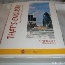Libros de segunda mano: THAT'S ENGLISH CURSO OFICIAL DE INGLES A DISTANCIA COMPLETO. Lote 209801648