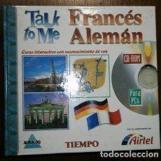 Libros de segunda mano: TALK TO ME / FRANCÉS-ALEMÁN 16 CD-ROM CURSO INTERACTIVO CON RECONOCIMIENTO DE VOZ / TIEMPO AIRTEL. Lote 210971209