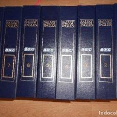 Libros de segunda mano: SALVAT INGLES - 8 ESTUCHES CON 24 CINTAS DE CASSETTES + 96 FASCICULOS - CURSO DE INGLES. Lote 211404822