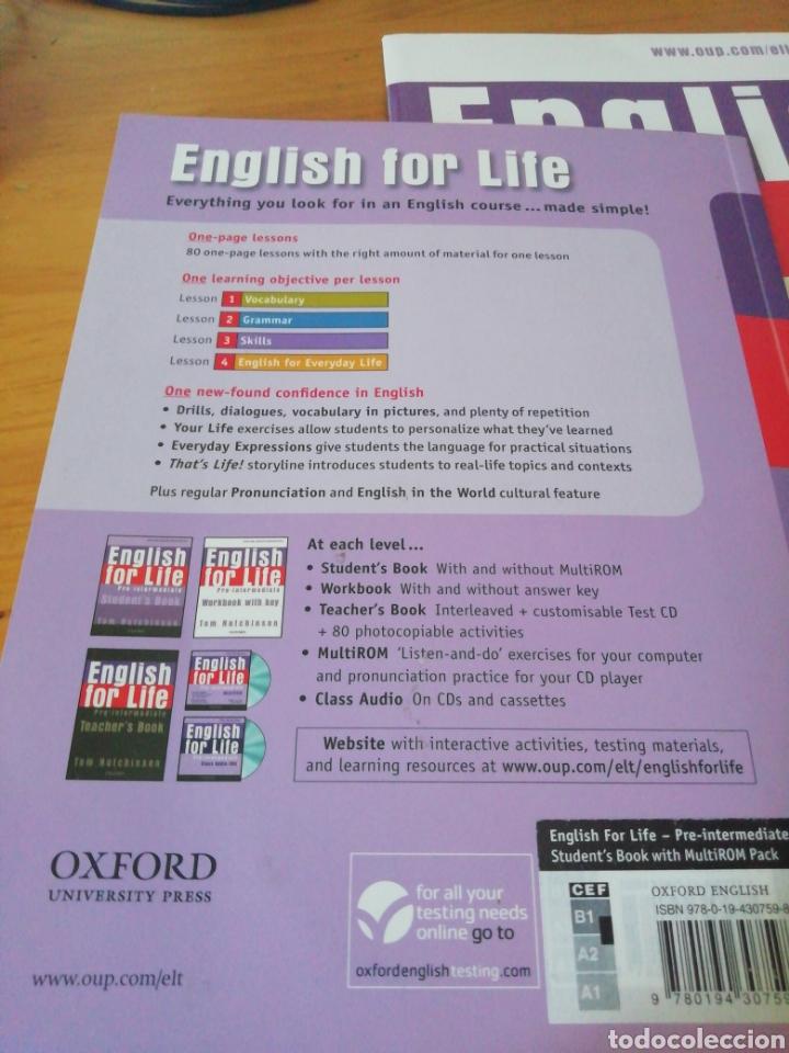 Libros de segunda mano: English for life - Pre-intermediate - Foto 2 - 211485134