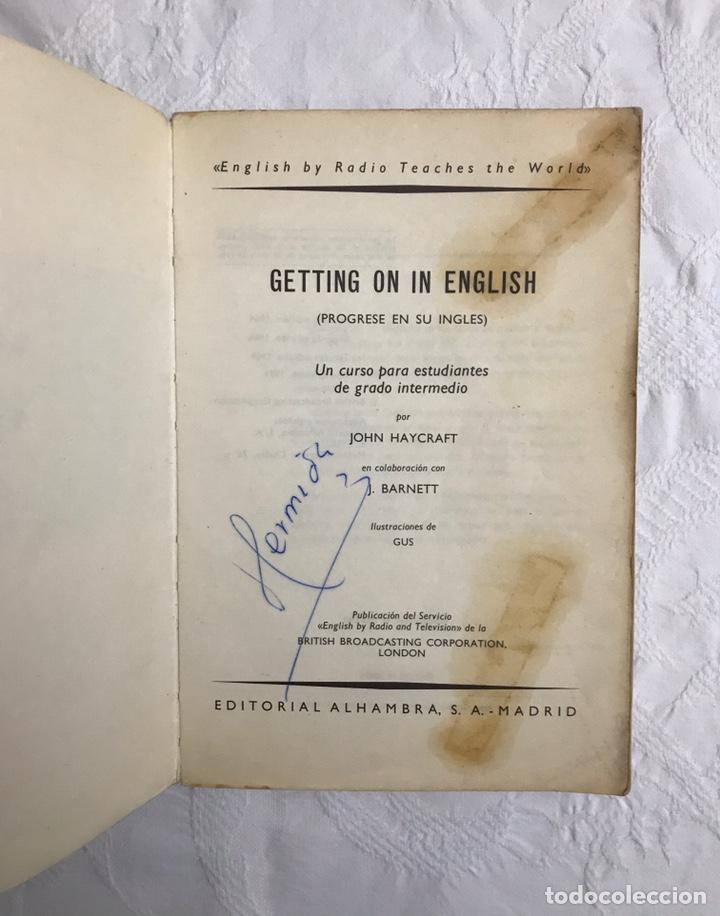 Libros de segunda mano: THE BBC ENGLISH COURSE. GETTING ON IN ENGLISH. CALLING THE BEGINNERS. DISCOS. CURSO DE INGLÉS - Foto 4 - 211511616