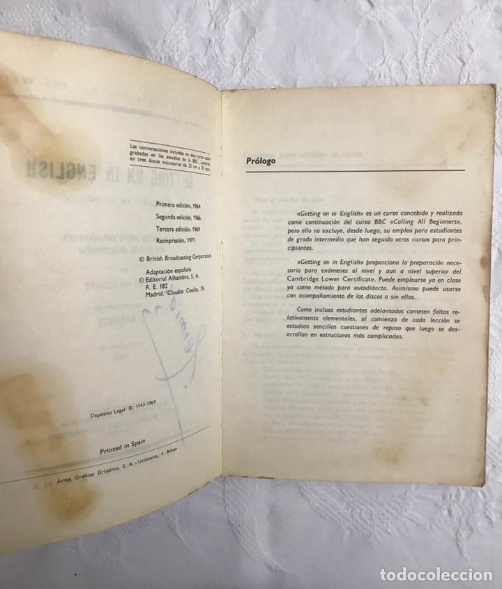 Libros de segunda mano: THE BBC ENGLISH COURSE. GETTING ON IN ENGLISH. CALLING THE BEGINNERS. DISCOS. CURSO DE INGLÉS - Foto 5 - 211511616