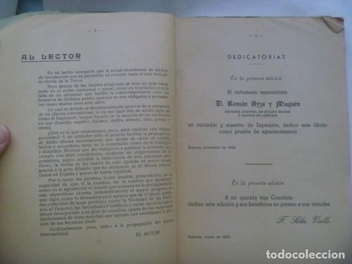 Libros de segunda mano: ESPERANTO AL ALCANCE DE TODOS, POR FERNANDO SOLER Y VALLS. 7ª EDICION , VALENCIA 1958 - Foto 2 - 212745476