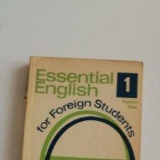 Libros de segunda mano: G-27 LIBRO ESSENTIAL ENGLISH STUDENTS BOOK. Lote 214286462