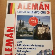 Libros de segunda mano: ALEMÁN. CURSO INTENSIVO CON CD (4 CD + LIBRO DE TEXTO DE 240 PÁGINAS). Lote 215259501