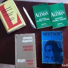 Libros de segunda mano: LOTE DE 5 LIBROS ALEMÁN. DICCIONARIO TELECOMUNICACIONES, CURSO DICCIONARIO ALEMÁN SOPENA, VER FOTOS. Lote 215870738