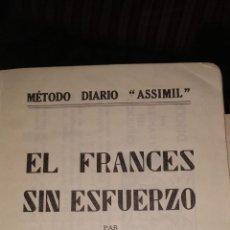 Libros de segunda mano: EL FRANCÉS SIN ESFUERZO. MÉTODO ASSIMIL. A. CHÉREL.. Lote 217288930