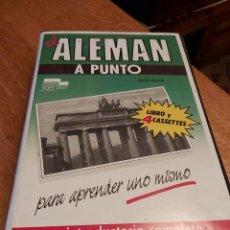 Libros de segunda mano: EL ALEMAN A PUNTO. CURSO COMPLETO. SGEL. CINTAS Y LIBRO. Lote 218203783