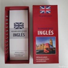 Libros de segunda mano: VOCABULARIO BASICO INGLÉS. 500 FICHAS. Lote 218212056