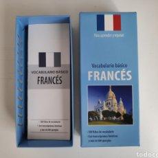 Libros de segunda mano: VOCABULARIO BASICO FRANCÉS. 500 FICHAS. Lote 218212210