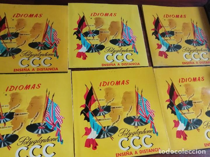 Libros de segunda mano: Polyglophone. Curso de francés CCC. Nivel 1 completo. 1958. 6 discos 12 lecciones. - Foto 3 - 218403668