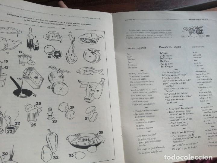 Libros de segunda mano: Polyglophone. Curso de francés CCC. Nivel 1 completo. 1958. 6 discos 12 lecciones. - Foto 9 - 218403668