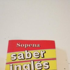 Libros de segunda mano: G-42 LIBRO SABER INGLES EN DIEZ DIAS SOPENA. Lote 219762896