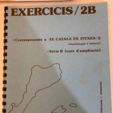 Libros de segunda mano: EL CATALÀ FÀCIL EXERCICIS 2B. JOSEP RUAIX I VINYET. Lote 221009816