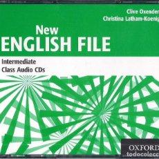 Libros de segunda mano: NEW ENGLISH FILE : INTERMEDIATE CLASS AUDIO CD - 3 CD AUDIO ORIGINAL 2006 OXFORD UNIVERSITY PRESS. Lote 221154771