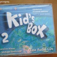 Libros de segunda mano: KID'S BOX 2 - CLASS AUDIO 4 CDS - SECOND EDITION - CAMBRIDGE ENGLISH . NIXON &TOMLINSON -PRECINTADO. Lote 222495396
