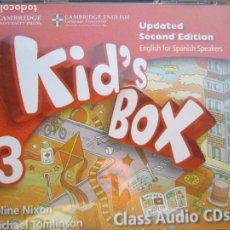 Libros de segunda mano: KID'S BOX 3 - CLASS AUDIO 4 CDS - SECOND EDITION - CAMBRIDGE ENGLISH . NIXON &TOMLINSON. Lote 222495518