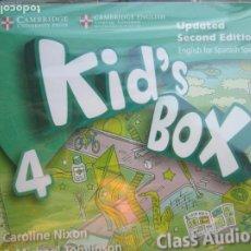 Libros de segunda mano: KID'S BOX 4 - CLASS AUDIO 4 CDS - SECOND EDITION - CAMBRIDGE ENGLISH . NIXON &TOMLINSON -PRECINTADO. Lote 222495707