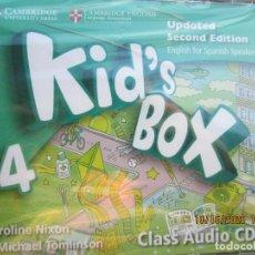 Libros de segunda mano: KID'S BOX 4 - CLASS AUDIO 4 CDS - SECOND EDITION - CAMBRIDGE ENGLISH . NIXON &TOMLINSON -PRECINTADO. Lote 222496502