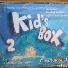 Libros de segunda mano: KID'S BOX 2 - CLASS AUDIO 4 CDS - SECOND EDITION - CAMBRIDGE ENGLISH . NIXON &TOMLINSON -PRECINTADO. Lote 222496650