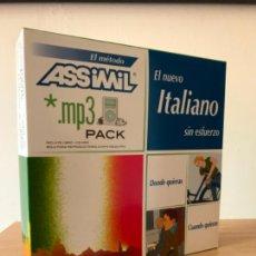 Libros de segunda mano: ASSIMIL. EL NUEVO ITALIANO SIN ESFUERZO. LIBRO + MP3. COMO NUEVO, 2004. Lote 222573551