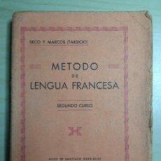 Libros de segunda mano: MÉTODO DE LENGUA FRANCESA SECO Y MARCOS (TARSICIO) HIJOS DE SANTIAGO RODRÍGUEZ. Lote 222061882