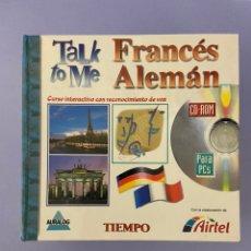 Libros de segunda mano: TALK TO ME FRANCÉS ALEMÁN. EL TIEMPO. 16 CD'S , CURSO INTERACTIVO CON RECONOCIMIENTO DE VOZ. Lote 224382908
