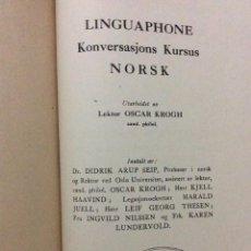 Libros de segunda mano: LINGUAPHONE KONVERSASJONS KURSUS NORSK, CERCA DE 195?. Lote 224928013