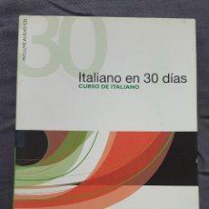 Libros de segunda mano: CURSO DE ITALIANO: ITALIANO EN 30 DÍAS - PAOLA FRATTOLA Y ROBERTA CONSTANTINO. Lote 226152447