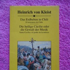 Libros de segunda mano: EL TERREMOTO DE CHILE SANTA CECILIA HEINRICH VON KELIST EDITORIAL PLANETA 1999 ALEMAN.. Lote 226620939