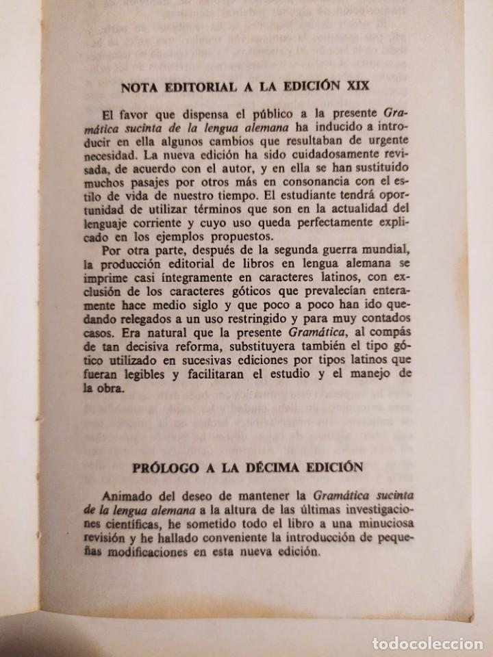 Libros de segunda mano: Gramatica sucinta de la lengua alemana - Método Gaspey Otto Sauer - E.Otto - E.Ruppert - Foto 4 - 227062647