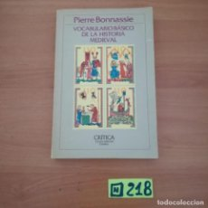 Libros de segunda mano: VOCABULARIO BÁSICO DE LA HISTORIA MEDIEVAL. Lote 234366650