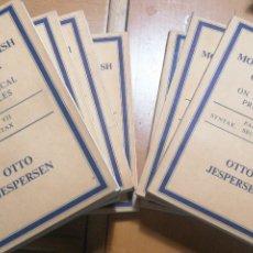Libros de segunda mano: A MODERN ENGLISH GRAMMAR ON HISTORICAL PRINCIPLES. OTTO JESPERSEN [COMPLETA 7 VOLUMENES] GEORGE ALLE. Lote 234729375