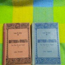 Libros de segunda mano: 1943. MÉTODO DE INGLÉS. LIBRO PRIMERO Y SEGUNDO. LEWIS GIRAU.. Lote 235237660