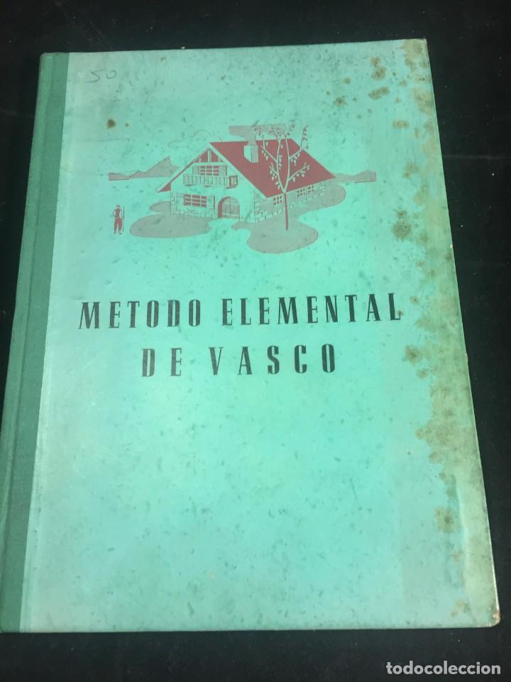 METODO ELEMENTAL DE VASCO. JOSE ESTORNES LASA. 1961. EDITORIAL ITXAROPENA ZARAUZ (Libros de Segunda Mano - Cursos de Idiomas)