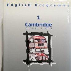 Libros de segunda mano: CAMBRIDGE ENGLISH SCHOOL ( CURSO, DICCIONARIO Y MANUAL ALUMNO). Lote 236568235