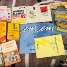 Libros de segunda mano: LOTE ALEMAN METODO LIBRO DICCIONARIO APRENDER HABLAR IDIOMAS ALEMANIA CUADERNO EJERCICIOS DEUTSCH. Lote 236709120