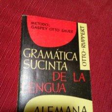 Libros de segunda mano: IMAGEN DEL VENDEDOR GRAMÁTICA SUCINTA DE LA LENGUA ALEMANA (MÉTODO GASPEY- OTTO- SAUER). Lote 236949975