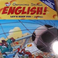 Libros de segunda mano: GERONIMO STILTON ENGLISH CON CD PRECINTADO TAPA DURA LET S KEEP FIT. Lote 237529300