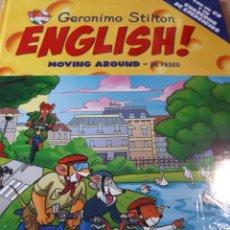 Libros de segunda mano: GERONIMO STILTON ENGLISH CON CD PRECINTADO TAPA DURA MOVING AROUND DE PASEO TAPA DURA. Lote 237529620