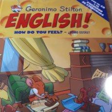 Libros de segunda mano: GERONIMO STILTON ENGLISH CON CD PRECINTADO HOW DO YOU FEEL ? COMO ESTAS ? TAPA DURA. Lote 237530125