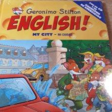 Libros de segunda mano: GERONIMO STILTON ENGLISH CON CD PRECINTADO MY CITY MI CIUDAD TAPA DURA. Lote 237530465