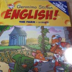 Libros de segunda mano: GERONIMO STILTON ENGLISH CON CD PRECINTADO THE FARM LA GRANJA TAPA DURA. Lote 237530950