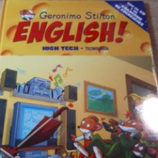 Libros de segunda mano: GERONIMO STILTON ENGLISH CON CD PRECINTADO TAPA DURA HIGH TECH TECNOLOGIA. Lote 237531820