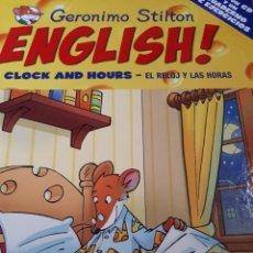 Libros de segunda mano: GERONIMO STILTON ENGLISH CON CD TAPA DURA CLOCK AND HOURS EL RELOJ Y LAS HORAS. Lote 237536855