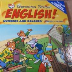 Libros de segunda mano: GERONIMO STILTON ENGLISH CON CD TAPA DURA NUMBERS AND COLOURS NUMEROS Y COLORES. Lote 237537440