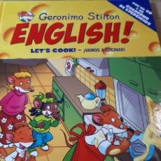 Libros de segunda mano: GERONIMO STILTON ENGLISH CON CD TAPA DURA LT S COOK VAMOS A COCINAR. Lote 237537645